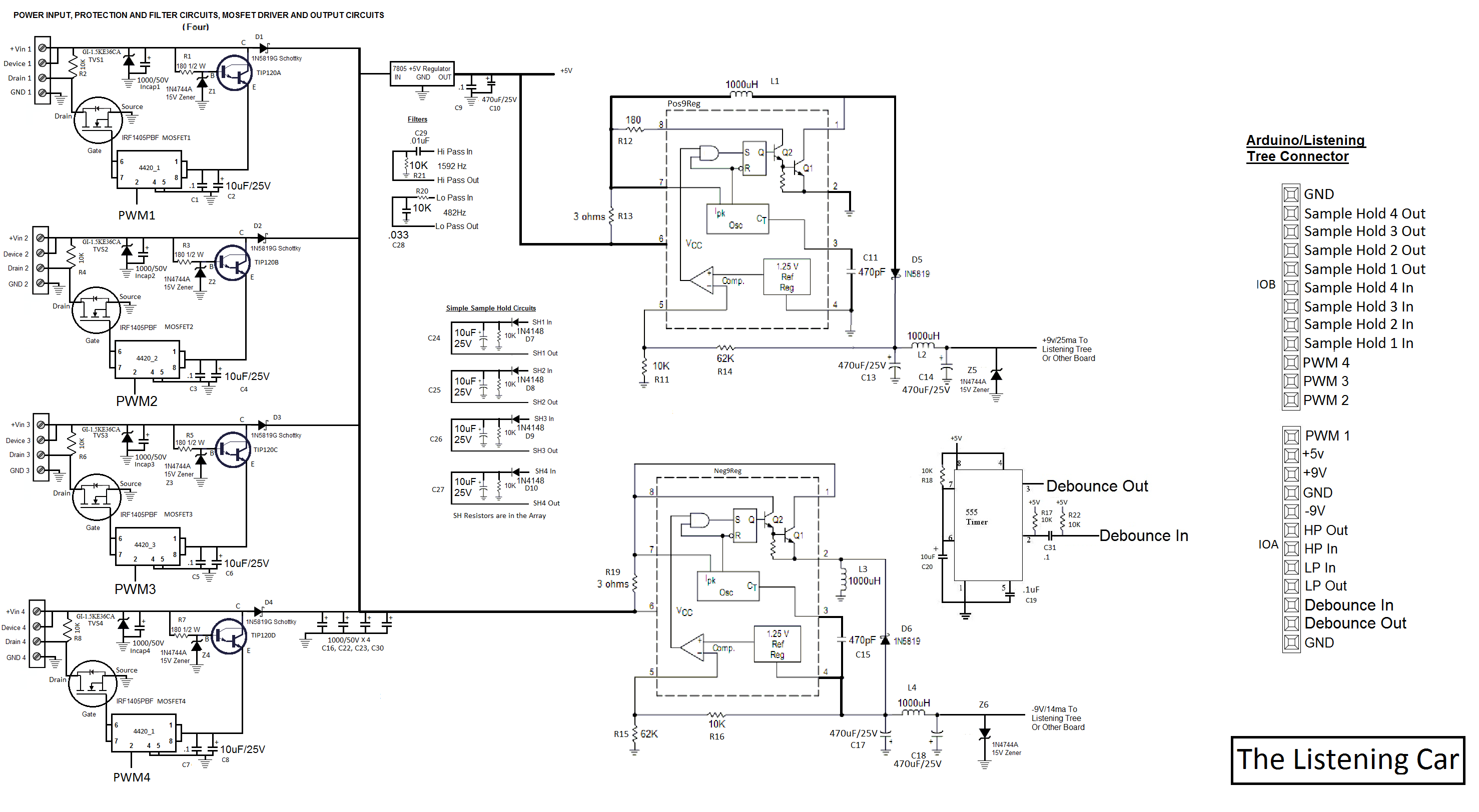 Some Ideas On Using The Listening Car Debouncing Circuit There Are Four Power Mosfet Circuits